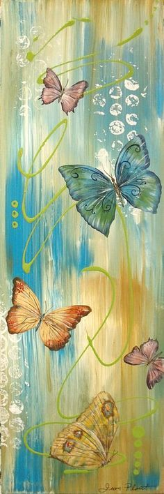 Butterfly Bliss 1 Painting - Butterfly Bliss 1 Fine Art Print