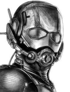 Drawing Marvel Ant-Man by - Marvel Fan, Marvel Dc Comics, Marvel Heroes, Marvel Avengers, Ant Man Scott Lang, Iron Man Drawing, Avengers Drawings, Man Sketch, Marvel Wallpaper