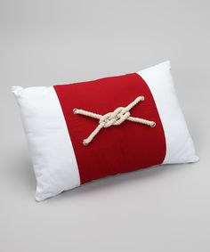 Take a look at this Tropical Fantasy by Dennis East Home Red Nautical Knot Pillow on zulily today!
