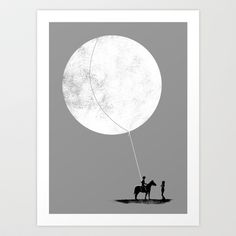 do you want the moon? Art Print by Sayahelmi - $16.00
