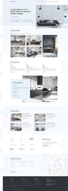 Elegant and minimalist web design in pastel blue. Elegant and minimalist web design in pastel blue. Website design color in - Layout Design, Layout Web, Design De Configuration, Website Design Layout, Layout Site, Design Color, Flat Design, Design Sites, Site Web Design