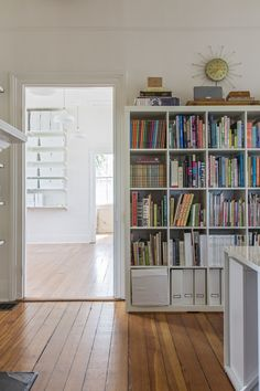 Shelves in SCDO Partners Charleston Office Old House Design, Ikea Book, Kallax Shelf Unit, Shelf Units, Kallax Regal, White Furniture, Modular Furniture, Home Organization, Organizing Ideas