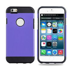 cool ZVE® iPhone 6 Case, iPhone 6 (4.7) Case Protective Slim Fit Dual Layer Protective Case Advanced Shock Absorption Protection with Kick-Stand Feature for iPhone 6(4.7-Inch)-Purple