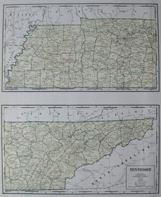 RARE 1940 TENNESSEE Map  Rare Size Vintage Map of Tennessee 1940s Map  Plaindealing 2838 on Etsy, $17.95
