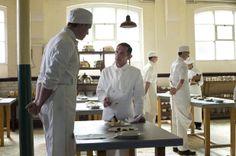 Yves Aubert as Arsene Avignon and Matt Milne as Alfred in 'Downton Abbey' S04x05