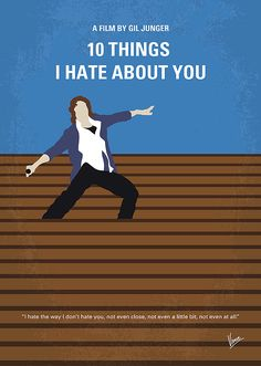 My 10 Things I Hate About You minimal movie poster minimalista My 10 Things I Hate About You minimal movie poster' Poster by ChungKong Art Iconic Movie Posters, Minimal Movie Posters, Minimal Poster, Movie Poster Art, Poster S, Iconic Movies, Poster Prints, Art Print, Poster Ideas