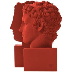 SOPHIA-ENJOY THINKING - Bookends Marathon Boy Deep Red (1.035 HRK) ❤ liked on Polyvore featuring home, home decor, small item storage, book-end, book ends and greek home decor