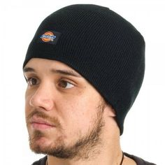 0176594b Dickies Black Beanie Hat Cap Basic Knit Core Winter Warm One Size Adult  #Dickies #