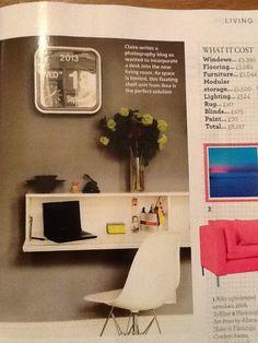 Floating shelf unit from ikea Desk Shelves, Floating Shelves, Space Furniture, Blinds, Homeschool, Ikea, The Unit, Bath, Flooring