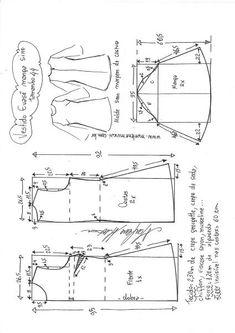 Vestido evasê com manga sino | DIY - molde, corte e costura - Marlene Mukai