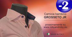 Camicia bambino GROSSETO JR prossimamente su www.robyandroby.eu