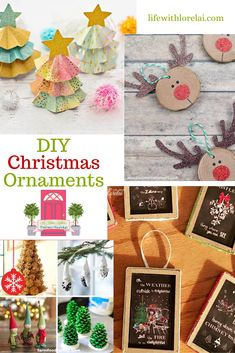 DIY Christmas Ornaments for the Holidays + HM - Life With Lorelai Santa Crafts, Reindeer Craft, Easy Christmas Crafts, Diy Christmas Ornaments, Family Christmas, Simple Christmas, Christmas Holidays, Joanna Gaines, Thanksgiving Decorations