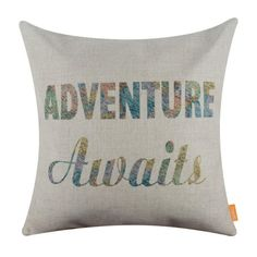 Adventure Awaits - Decorative Cushion Cover  These cushion covers are a great accent in your travel themed decor or a perfect gift to the world explorer in your life!    Available in three awesome designs! Get inspired and pick your favourite one ;)  www.therealnomad.com