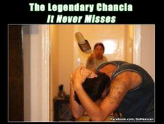La chancla NEVER misses, omg memories!  that woman never missed