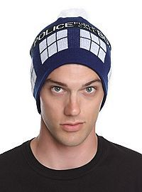 HOTTOPIC.COM - Doctor Who TARDIS Pom-Pom Beanie
