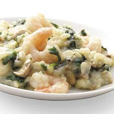 Shrimp 'n' Spinach Risotto Recipe from Taste of Home -- shared by Jennifer Neilsen of Williamston, North Carolina