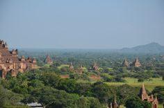 Some of the 2000+ temples of the ancient city of Bagan, Myanmar.