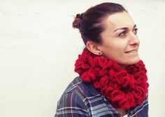 Red Ruffle Scarf  Spring Sale by dmtgun3 on Etsy, $40.00 Ruffle Scarf, Red Scarves, Spring Sale, Plaid Scarf, Trending Outfits, Unique, Clothes, Vintage, Etsy