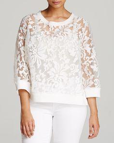 BB Dakota Plus Medwin Lace Sweatshirt | Bloomingdale's