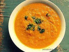 Seasons in a jar: Σούπα με πορτοκαλί κολοκύθα/ Pumpkin soup