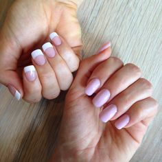 False nails - nude pink and french manicure.