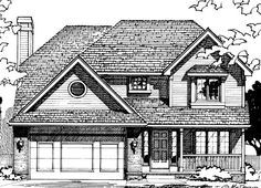 House Plan 68541 | Traditional    Plan with 1824 Sq. Ft., 4 Bedrooms, 3 Bathrooms, 2 Car Garage