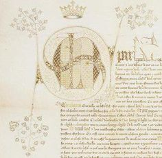 Lettre de Charles V unissant à la couronne l'hôtel de l'archevêque de Sens qu'il a acquis pour agrandir l'hôtel royal de Saint-Pol, février 1366.  Archives nationales, J/154 hôtel Saint-Pol, n° 8  © Archives nationales, France