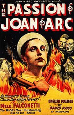 Passion of Joan of Arc movie poster - silent film. Brilliant.