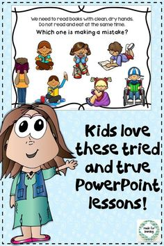 Great PowerPoint lesson for Taking Care of Books.  $