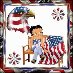Betty Boop Free Animated Wallpaper screensavers | Betty Boop Patriotism Animated Gifs