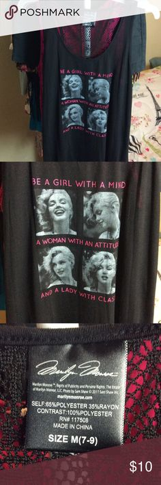 NEW Marilyn Monroe Tank Top Marilyn Monroe tank top. Back has a slit. New. Smoke free home. Marilyn Monroe Tops Tank Tops