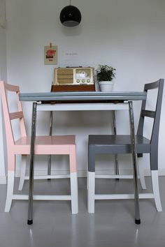 Painted chairs - different legs