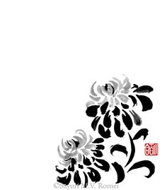 Chrysanthemum - sumi-e by SayuriMVRomei on deviantART