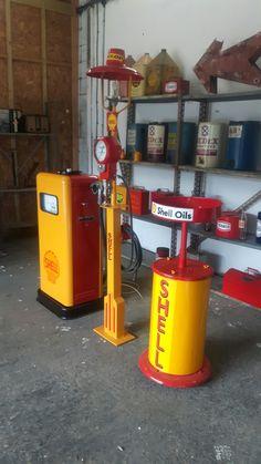 Gas Station Motor Oil /& Gasoline Shell Pecten Embossed Tin Metal Sign