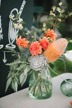 eclectic floral mix // photo by Delbarr Moradi, flowers by Shotgun Floral Studio // http://ruffledblog.com/romantic-pescadero-wedding