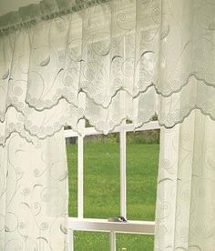 floral essence 3-scoop victory swag curtain valance | products