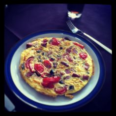 Omelette made with leftovers yummmmy!