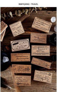 Wood Stamp, Wax Seal Stamp, Vintage Diy, Vintage Labels, Cheap Stamps, Scrapbook Stickers, Diy Paper, Cute Stickers, Journaling