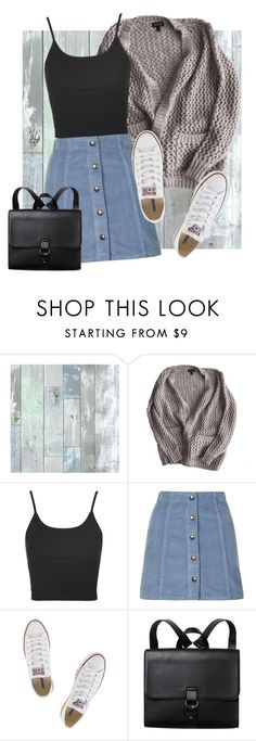 """Last day of school outfit♡"" by aelgreen-1 on Polyvore featuring WallPops, Topshop, Converse and Monki"