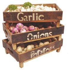 3 Piece Vegetable Bin Set