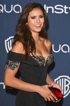 Nina Dobrev at the InStyle/Warner Bros. Golden Globes afterparty