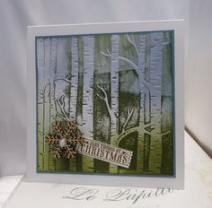 Using the Woodland Textured Impressions Embossing Folder as a Stamp