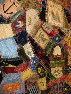 Crazy Quilt - beautiful detail!