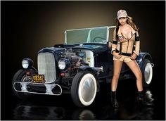 Rat Rod Girls | ... back to our Hotrods and Girls Page 1 page for more Rat Rod Artwork