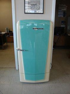 1950s, Antique, Refrigerator, Restored, Harley Davidson, Mancave, Diva Den,