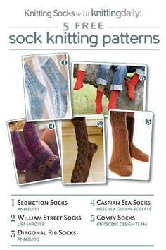 Over the Kitchener stitch? Here's a great grafting technique for knitting socks this holiday + 5 FREE sock knitting patterns courtesy of Interweave! Magic Loop Knitting, Cast On Knitting, Knitting Daily, Knitting Socks, Knit Socks, Afghan Crochet Patterns, Knitting Patterns Free, Girls Quilts, Knitting Projects