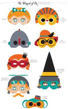 A Kitschy Digitals Collaboration: Printable Masks! Blogged.