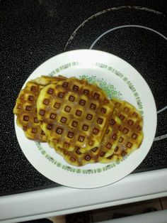 Biscuits made with the waffle maker! So easy!