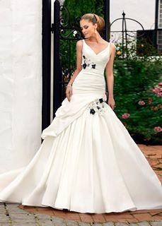 Wedding Dress Blackrose Detail Shabby Chic Dresses Pinterest