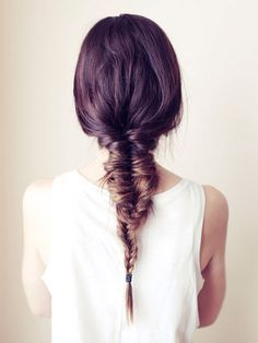 Love this messy fishtail look
